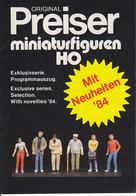 KAT236 Alter Modellkatalog Preiser Miniaturfiguren H0, 1984, Neu - Littérature & DVD