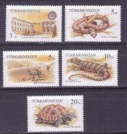 TURKMENISTAN,    N°50/54 , 1994 ,cote 8€ , Reptiles ( W1903/109) - Turkménistan