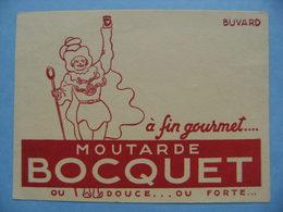 Buvard Fabrique De Moutarde - BOCQUET - Etablissements D'Yvetot 76 - Normandie   A Voir ! - Moutardes