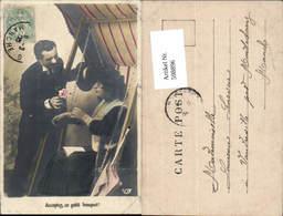 598896,Foto AK Frau Hollywoodschaukel Lesen Buch Kuss Paar Liebe Schaukel - Paare