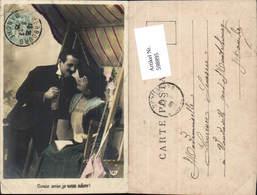 598895,Foto AK Frau Hollywoodschaukel Lesen Buch Kuss Paar Liebe Schaukel - Paare