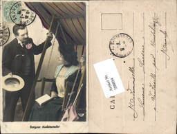 598894,Foto AK Frau Hollywoodschaukel Lesen Buch Kuss Paar Liebe Schaukel - Paare