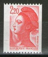 N° 2379d**_N° Rouge Gomme Brillante Jaunâtre_cote 7.00 - 1982-90 Liberté De Gandon
