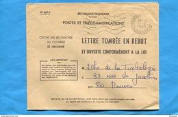 Marcophilie-LETTRE TOMBEE EN REBUT-N°827-1-CAD 1968-Libourne Centre Des Recherches -distribuée - Marcophilie (Lettres)