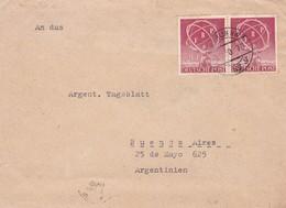 ENVELOPPE CIRCULEE 1950 PAR OTTO KRAUSE FROM BERLIN NW TO ARGENTINE TIMBRE UNIE BANDELETA PAR - BLEUP - Otros