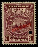 "1917 Costa Rica $20 Colones ""Color Proof Specimen"" - Costa Rica"