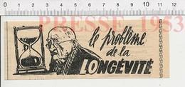 Presse 1953 Temps Qui Passe Longévité Sablier 216E9 - Alte Papiere
