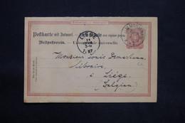 ALLEMAGNE - Entier Postal De Richrath Pour La Belgique En 1887 - L 25181 - Stamped Stationery