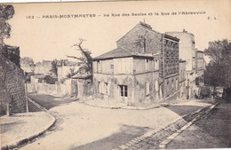 75 PARIS. MONTMARTRE. CPA. LA RUE DES SAULES ET LA RUE DE L'ABREUVOIR - Distrito: 18