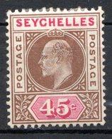 SEYCHELLES - (Colonie Britannique) - 1903-04 - N° 45 - 45 C. Brun Et Carmin - (Edouard VII) - Seychelles (...-1976)