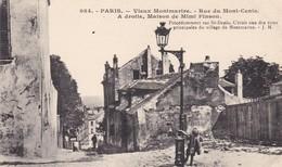 75 PARIS. VIEUX MONTMARTRE. CPA. ANIMATION RUE DU MONT CENIS. - District 18