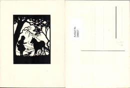 598057,Scherenschnitt Silhouette Märchen Der Böse Wolf Rotkäppchen - Märchen, Sagen & Legenden