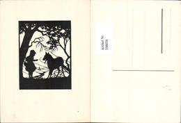 598056,Scherenschnitt Silhouette Märchen Der Böse Wolf Rotkäppchen - Märchen, Sagen & Legenden