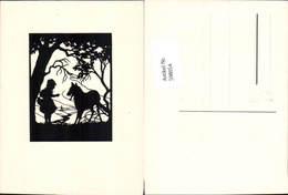 598054,Scherenschnitt Silhouette Märchen Der Böse Wolf Rotkäppchen - Märchen, Sagen & Legenden
