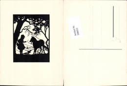 598053,Scherenschnitt Silhouette Märchen Der Böse Wolf Rotkäppchen - Märchen, Sagen & Legenden