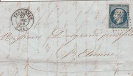 MARQUE POSTALE LAC 25 TAULIGNAN  PC 3323 S/14  27 DEC 1856 - Storia Postale