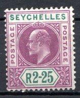 SEYCHELLES - (Colonie Britannique) - 1903-04 - N° 48 - 2 R. 25 Violet Et Vert - (Edouard VII) - Seychelles (...-1976)