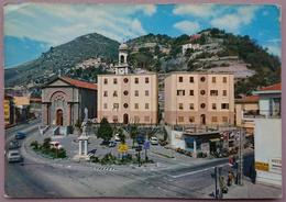 NERVIA (IMPERIA) - Piazza E Parrocchia Di Cristo Re - Riviera Dei Fiori - Viaggiata  L2 - Imperia
