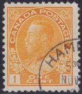 Canada  .  Scott     .      105         .      O    .  Cancelled  .   /    .  Gebruikt - 1911-1935 Regering Van George V