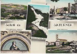 1958 SALUTI DA SATURNIA - VEDUTINE (GROSSETO) - PUBBLICITA' -- M1619 - Grosseto