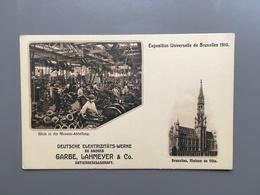 AACHEN - AKEN - Deutsche Elektrizitäts-werke - Garbe - Lahmeyer - Exposition Universelle De Bruxelles 1910 - Aken