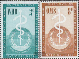 UN - New York 49-50 (complete Issue) Unmounted Mint / Never Hinged 1956 WHO - New York – UN Headquarters