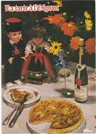 D1416 CARTE RECETTE - TARTE A L'OIGNON - RECETTE AU VERSO - Recettes (cuisine)
