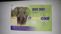 Zimbabwe-easy Call Eaza Neni-($50.000)-(0964880379937833)-used Card+1card Prepiad Free - Simbabwe