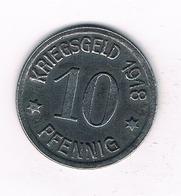 10 PFENNIG 1918 COBLENZ DUITSLAND /2161/ - [ 3] 1918-1933: Weimarer Republik