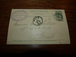 Entier Postal Pharmacie O. Alecandre Saint-Servais St-Servais Namur 1899 - Belgique