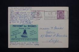 "BELGIQUE - Entier Postal "" Publibel "" ( Vatronol Vicks ) De Charleroi Pour Liège En 1939 - L 25193 - Stamped Stationery"