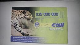 Zimbabwe-easy Call Eaza Neni-($25.000.000)-(1061337888137732)-used Card+1card Prepiad Free - Zimbabwe