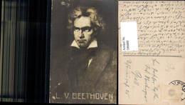 596889,Künstler Ak Rumpf Ludwig V. Beethoven Komponist Musik - Schriftsteller
