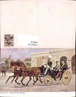 596879,Künstler Ak H. G. Wilda Ausfahrt Kaiser Franz Josef Kutsche Adel Monarchie Pub - Königshäuser