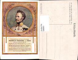 596863,Künstler Ak Heinrich Freiherr V. Hess Adel Monarchie - Königshäuser