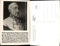 596862,Portrait Joh. Nep. Berger Freiherr V. D. Pleisse Adel Monarchie - Königshäuser