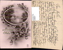 596837,Rosen Blüten Blumen Ranke Landschaft I. Passepartout Pub PC Paris 4086 - Ohne Zuordnung