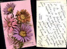 596835,Foto Ak Margeriten Bunt Blumen Pub PC Paris 6708 - Ohne Zuordnung