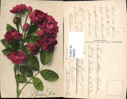596833,Rote Rosen Bonne Fete Blumen Pub Martin Rommel Co 593 - Ohne Zuordnung
