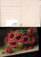 596829,Künstler Ak W. Schütze Mohn Klatschmohn Mohnblumen Vase Blumen Pub Meissner Bu - Ohne Zuordnung