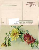 596821,Chrysanthemen Gelb U. Rot Blumen Stempel Aecht Franck Kaffeemühle - Botanik