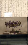596816,Schale Vase M. Veilchen Blumen - Ohne Zuordnung