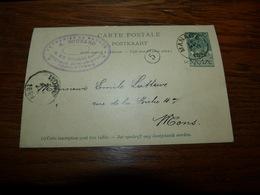 Entier Postal Verreries De Manage A Bougard Gobeletterie 1899 - Belgique