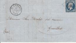 MARQUE POSTALE LAC 29 ST AMBROIX A GRAULHET PC 2977 S/ 14  28 AOUT 1856 - Marcophilie (Lettres)