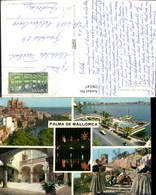 596547,Mehrbild Ak Palma De Mallorca Kathedrale Tracht Volkstypen Windmühle Spain - Spanien