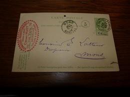 Entier Postal Drogueries Produits Chimiques Clément Huet Bruxelles 1906 - Belgique