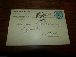 Entier Postal Aug. Vereycken Commissionnaire Expéditeur Bruxelles 1900 - Zonder Classificatie