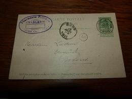 Entier Postal Pharmacies Fédérales Charleroi 1901 - België