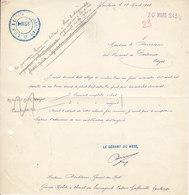 Verrerie De Portieux , Vosges , Commande Du Groupe Mobile à Cheval  Du Lauraguais à Toulouse  ,1943 - Documents