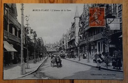 62 : Berck-Plage - L'Avenue De La Gare - Animée - Attelage - (n°14672) - Berck
